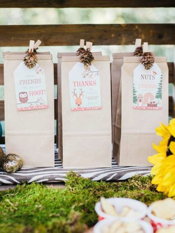 Woodland Party Favors | CatchMyParty.com