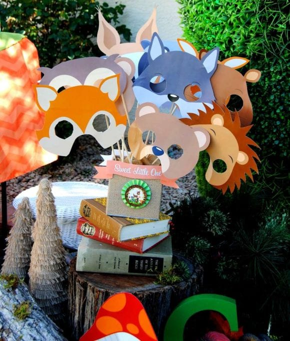 Woodland Photo Booth Props | CatchMyParty.com
