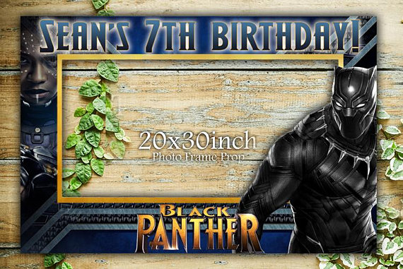 Black Panther photo booth props | CatchMyParty.com