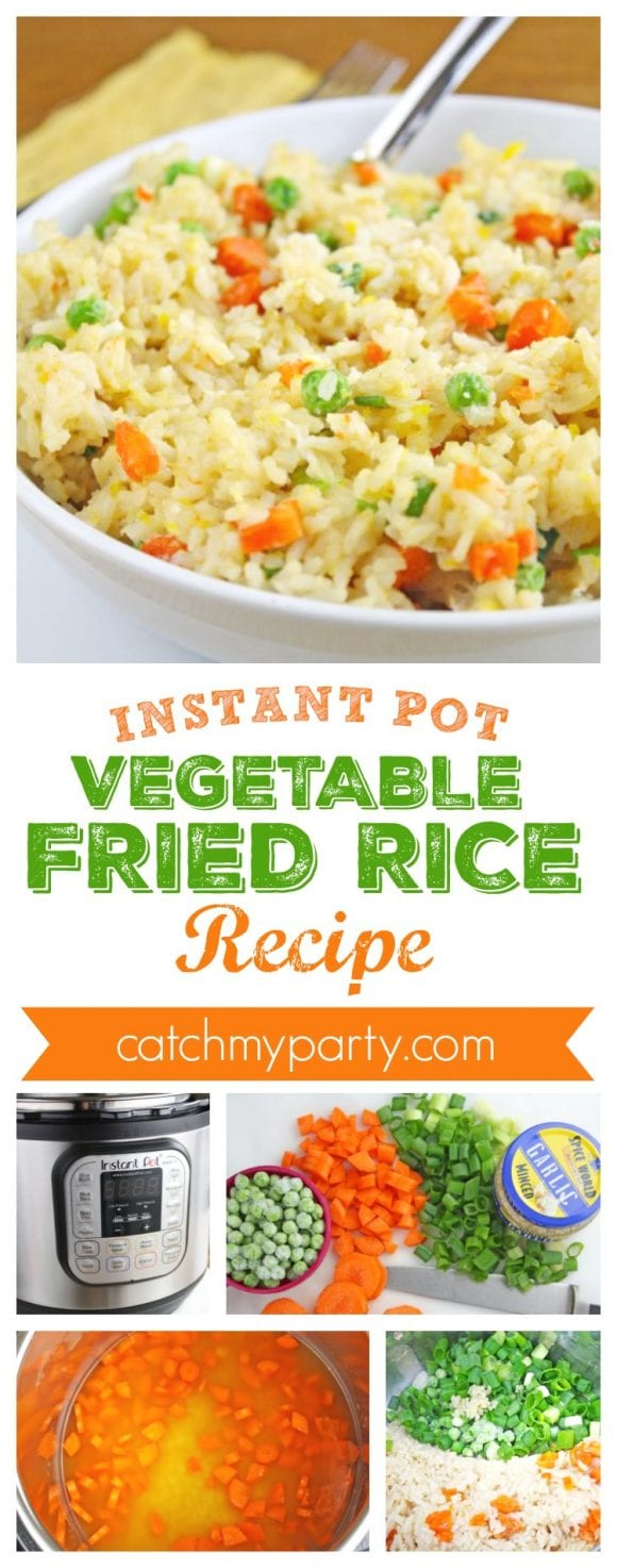 Instant Pot Vegetable Fried Rice Recipe | CatchMyParty.com