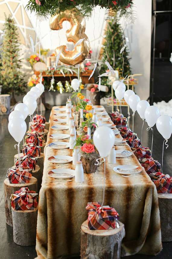 Woodland Table Settings| CatchMyParty.com