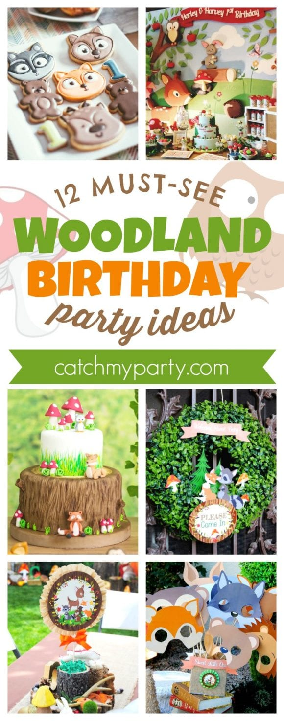 12 Must-See Woodland Birthday Party Ideas | CatchMyParty.com