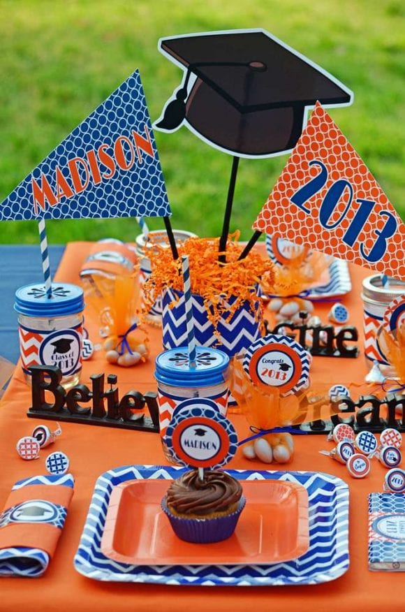 Graduation Centerpiece | CatchMyParty.com