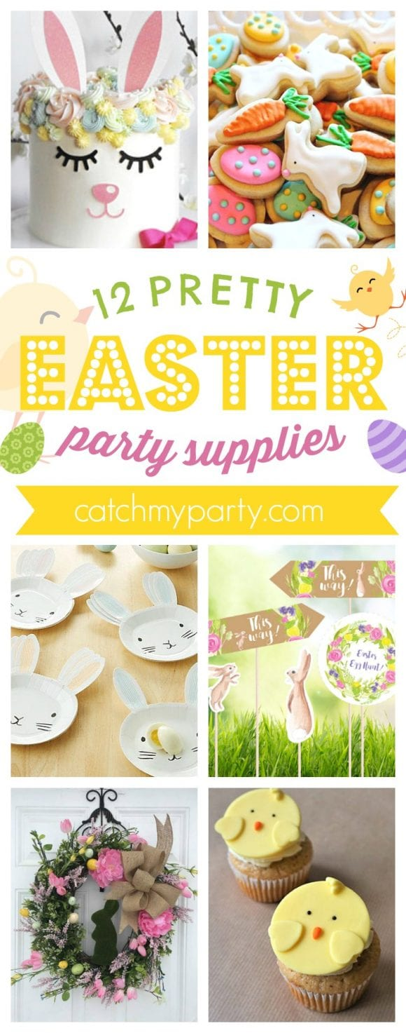 12 Pretty Easter Party Supplies | CatchMyParty.com