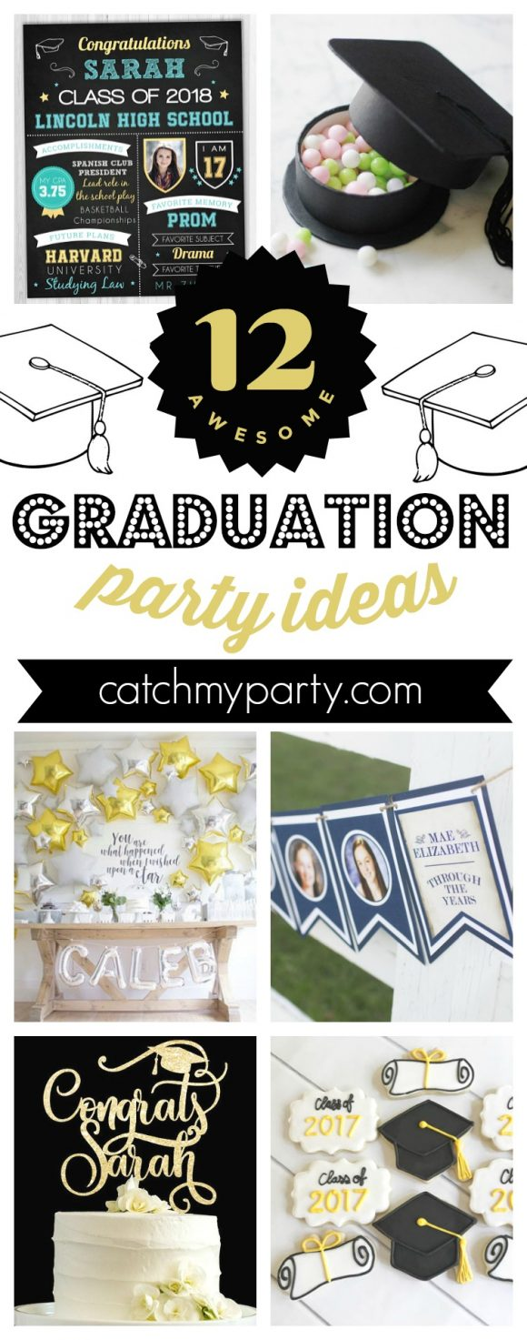 12 Awesome Graduation Party Supplies | CatchMyParty.com