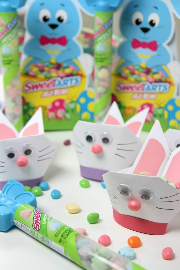 Best Easter Basket Origami Bunny Craft | CatchMyParty.com