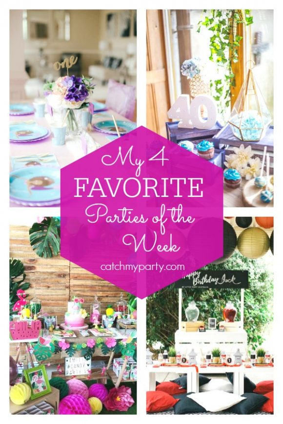 My favorite parties this week include an Under the Sea Mermaid Party, a Denim themed 40th birthday, a Flamingo birthday party, and a Ninjago birthday party | CatchMyParty.com