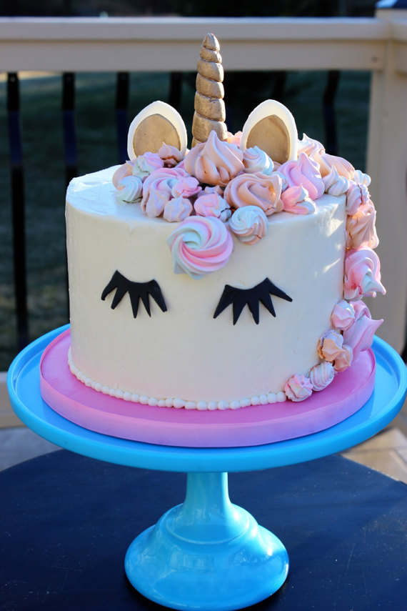 Unicorn Cake Topper | CatchMyParty.com
