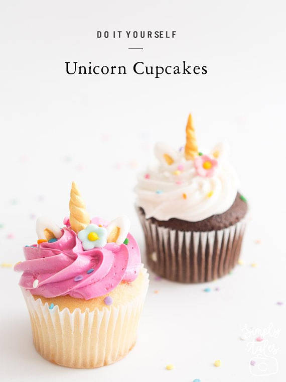 Unicorn Cupcake Toppers | CatchMyParty.com