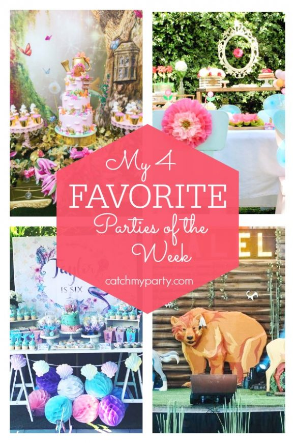 My favorite parties this week include a fairy birthday party a mermaid birthday party, a garden birthday party, and a tribal woodland 1st birthday party. | CatchMyParty.com