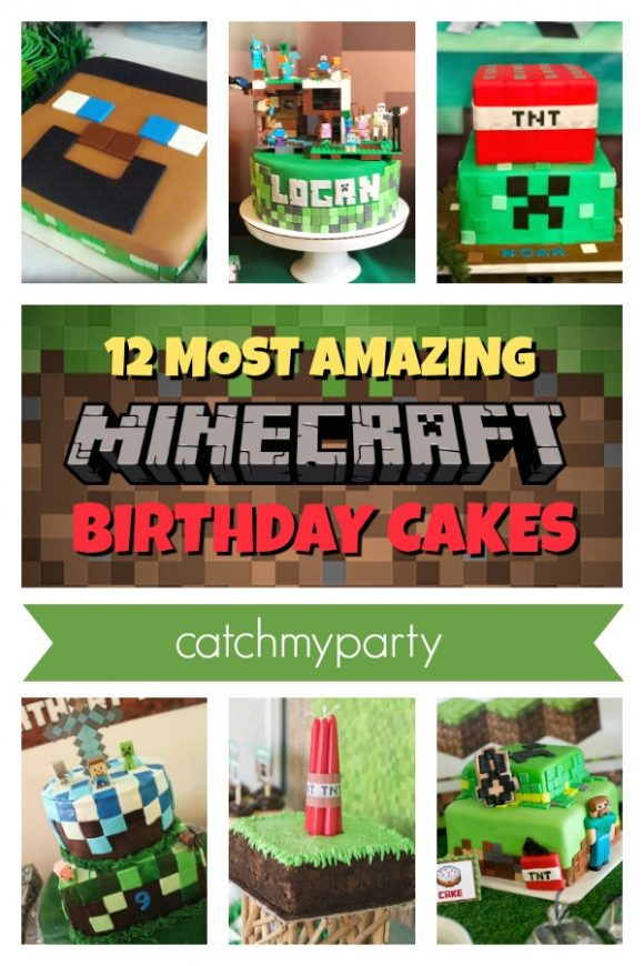 The 12 Most Amazing Minecraft Cakes | CatchMyParty.com