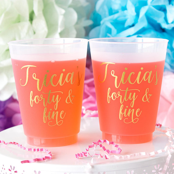40 and Fine Party Cups | CatchMyParty.com