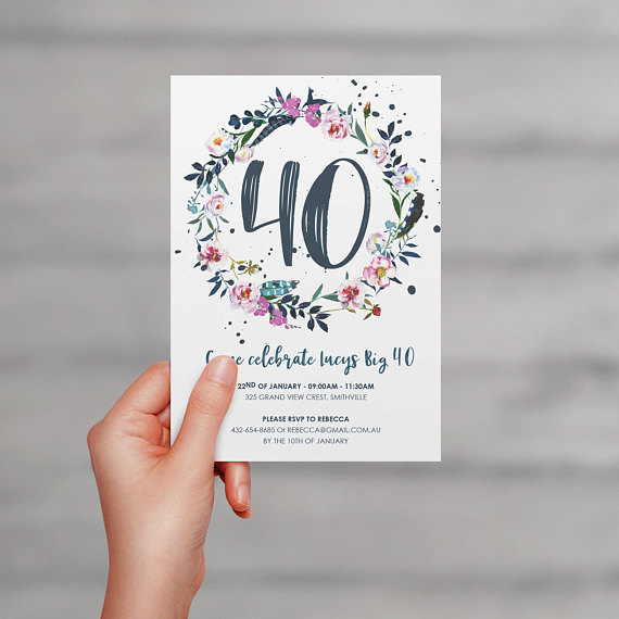 40th birthday party Invitation | CatchMyParty.com