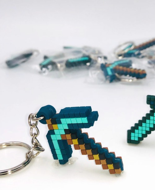 Minecraft Party Favor Sword Keyring