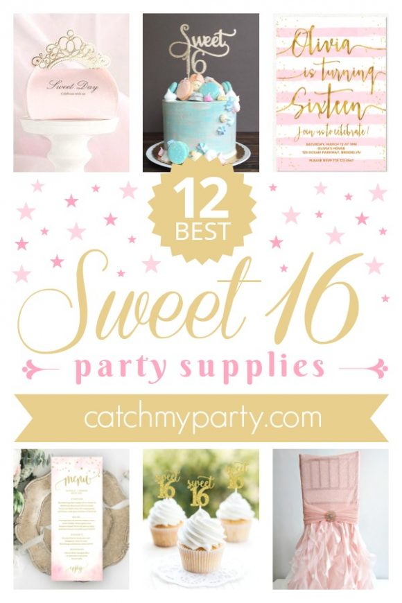 Sweet 16 birthday party supplies | CatchMyparty.com