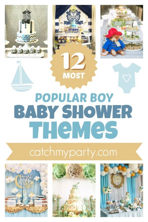 The 12 Most Popular Baby Shower Themes for Boys | CatchMyParty.com