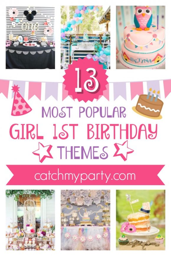 The 13 Most Popular Girl 1st Birthday Themes | CatchMyParty.com