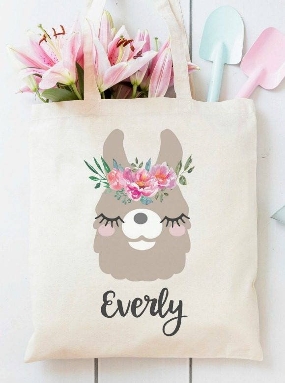 Lllam party supplies - party favor tote bags | CatchMyParty.com