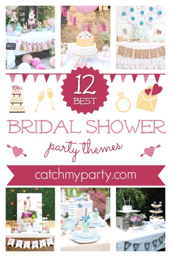 Look at The Most 12 inspiring Bridal Shower Themes! | CatchMyParty.com