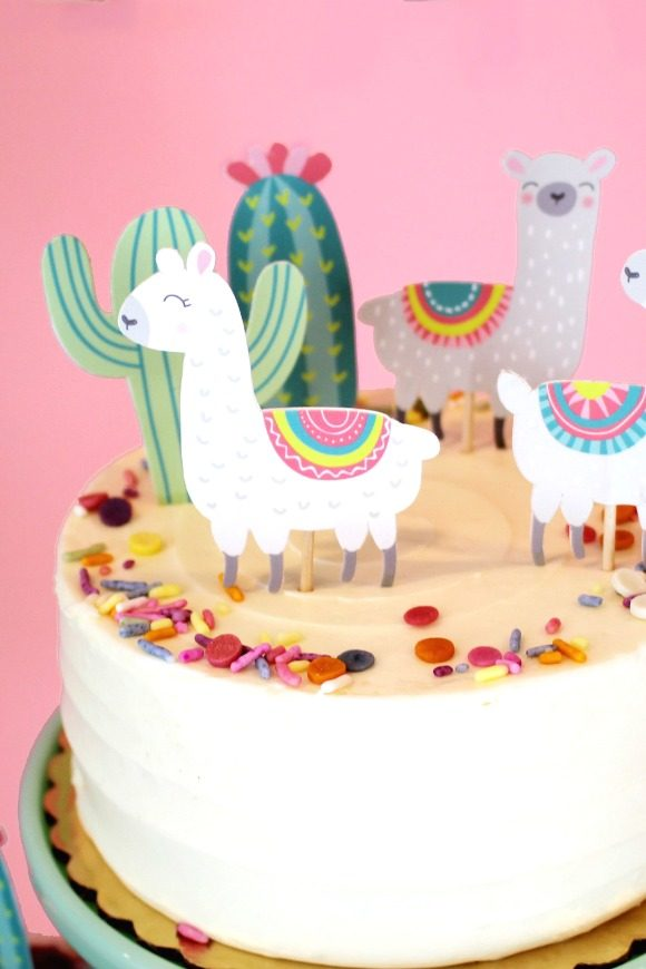 Lllama party supplies - Cake Topper | CatchMyParty.com