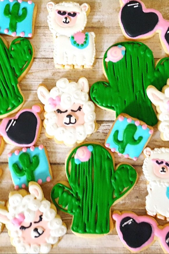 Lllama party supplies - Cookies | CatchMyParty.com