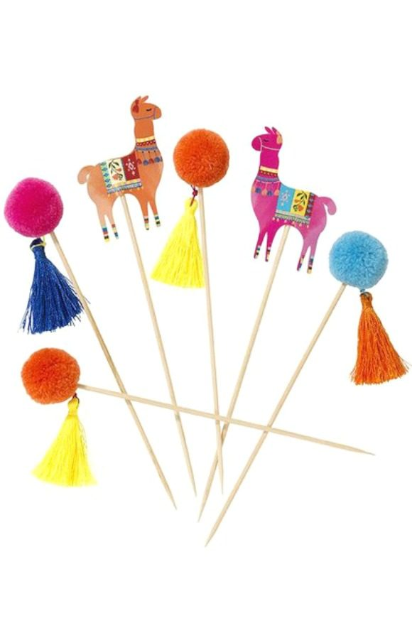 Lllama party supplies - Cupcake Toppers | CatchMyParty.com