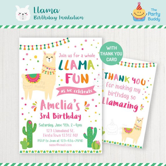 Lllama party invitation | CatchMyParty.com