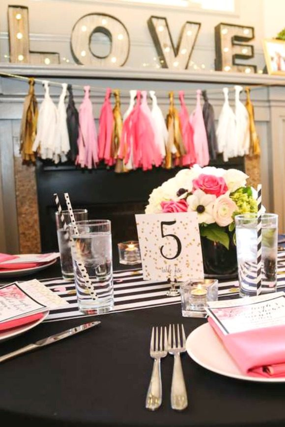 Kate Spade themed Bridal Shower | CatchMyParty.com