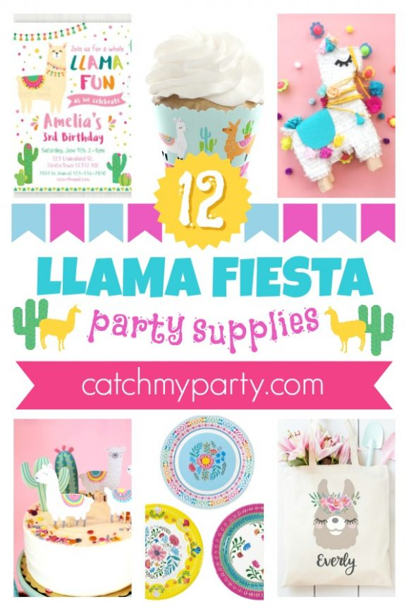 The 12 Most Fun Llama Party Supplies | CatchMyParty.com