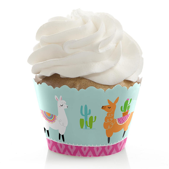 Llama party supplies - Cupcake Toppers | CatchMyParty.com