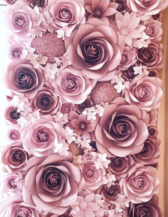 Quinceanera party supplies - Paper Floral Backdrop | CatchMyParty.com