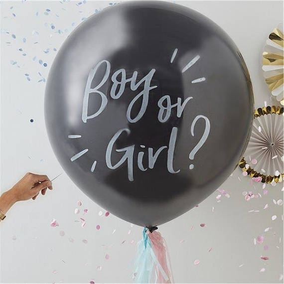 Gender Reveal party supplies - Balloons | CatchMyParty.com