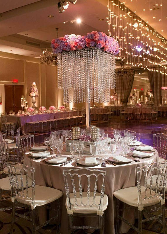 Quinceanera party supplies - Chandelier Centerpiece | CatchMyParty.com