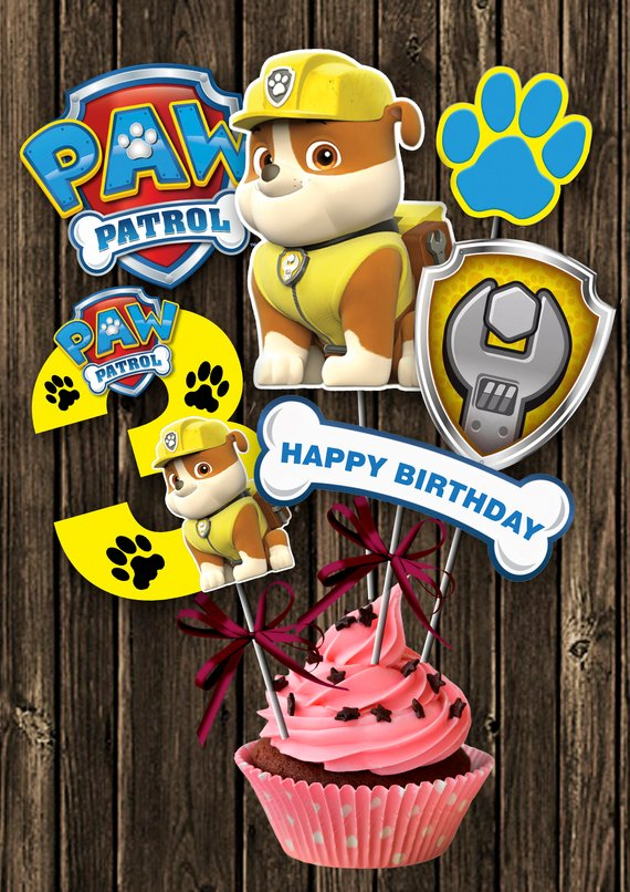 Paw Patrol party supplies - Centerpiece | CatchMyParty.com