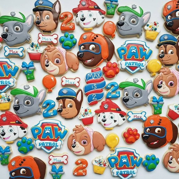 Paw Patrol party supplies - Cookies | CatchMyParty.com