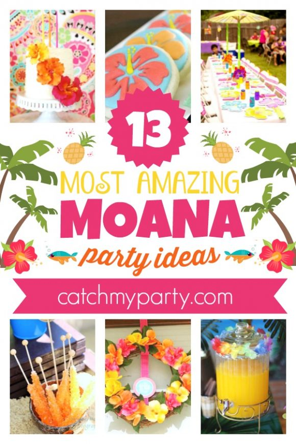 The Most Amazing 13 Disney Moana Party Ideas | CatchMyParty.com