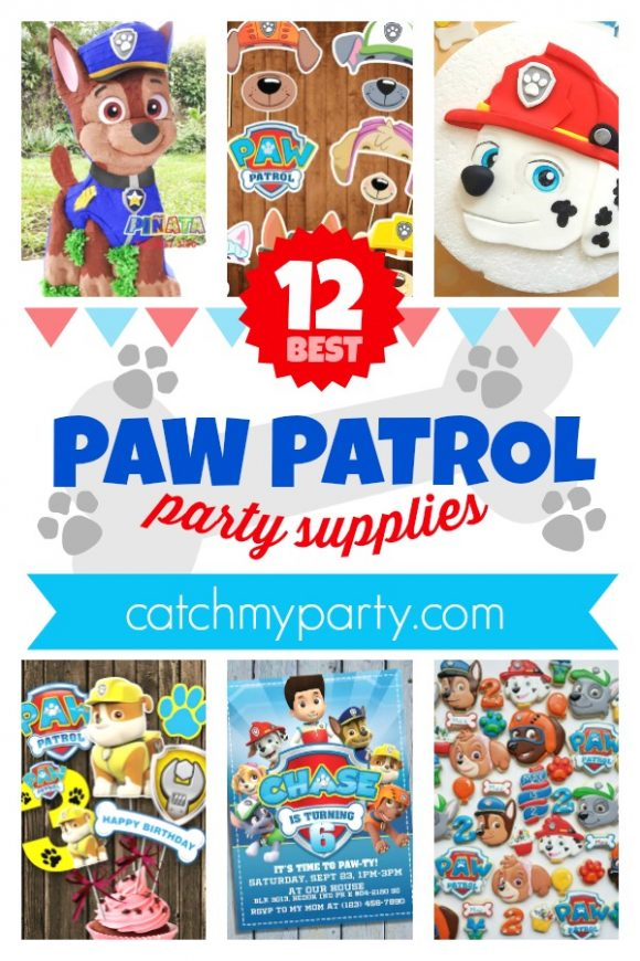 Take a Look at the 12 Best Paw Patrol Party Supplies | CatchMyParty.com