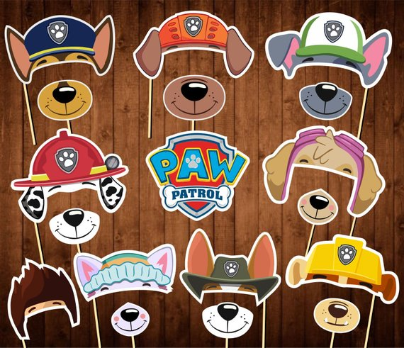 Paw Patrol party supplies - Photo Booth Props | CatchMyParty.com