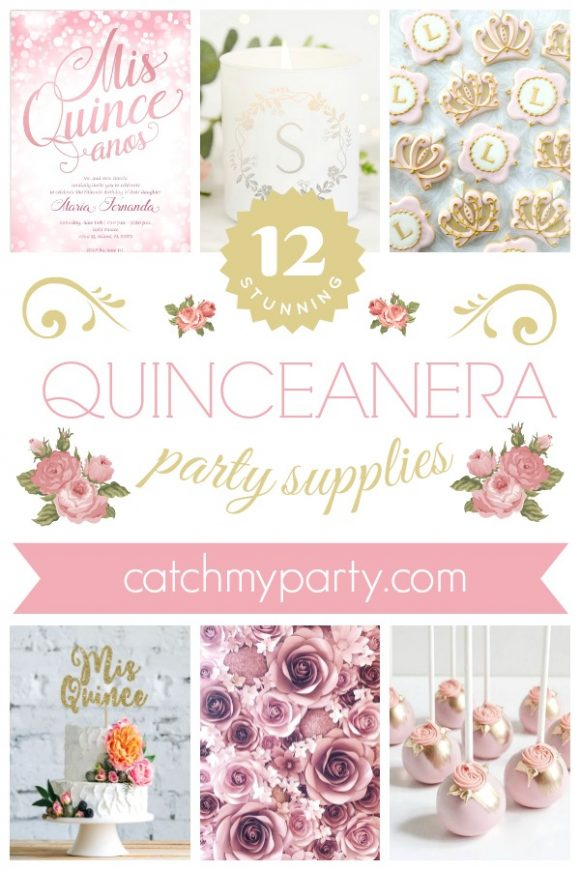 The 12 Most Stunning Quinceanera Party Supplies | CatchMyParty.com