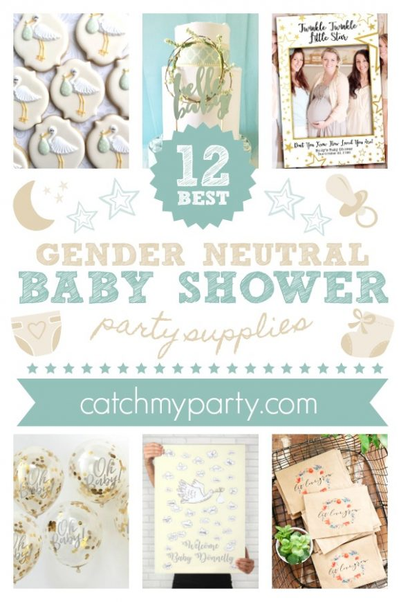 Take a Look at the 12 Best Gender Neutral Baby Shower Party Supplies | CatchMyParty.com