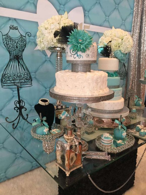 Tiffany & Co. themed Quinceanera | CatchMyParty.com