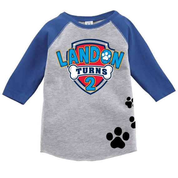 Paw Patrol party supplies - Birthday Tshirt | CatchMyParty.com