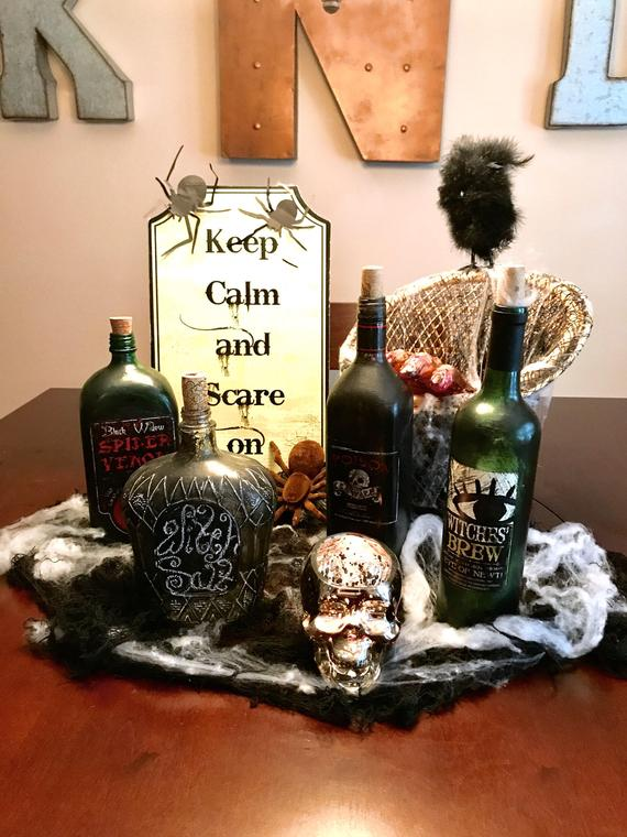 Scary Halloween decoration supplies - Halloween Bottles | CatchMyParty.com
