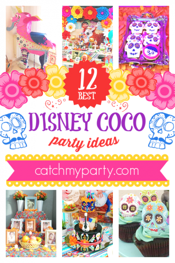 Take a Look at the Best 12 Disney Pixar Coco Party Ideas! | CatchMyParty.com