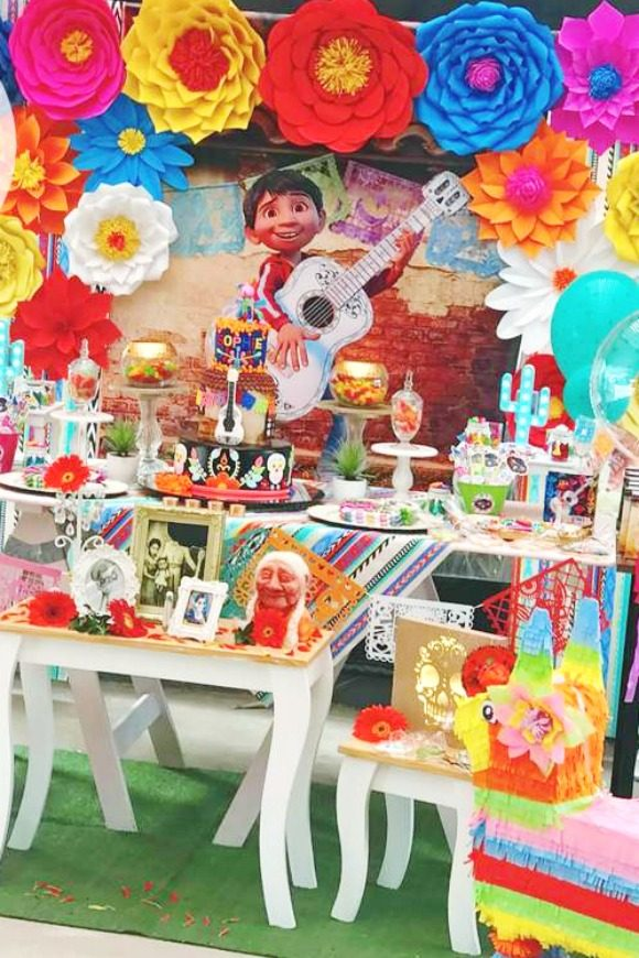 Disney Coco Dessert Table | CatchMyParty.com