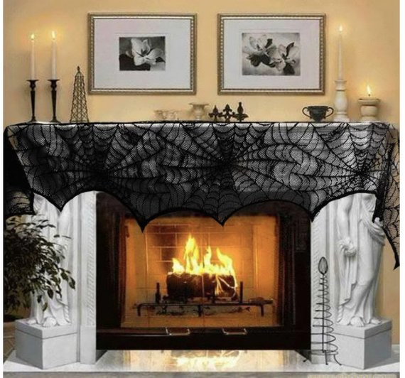 Scary Halloween decoration supplies - Fireplace Runner | CatchMyParty.com