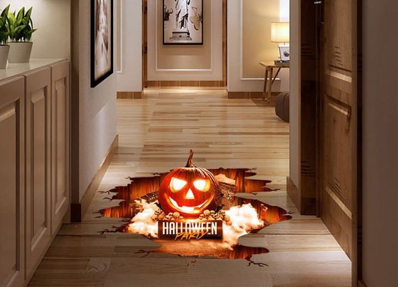 Scary Halloween decoration supplies - 3d floor sticker | CatchMyParty.com