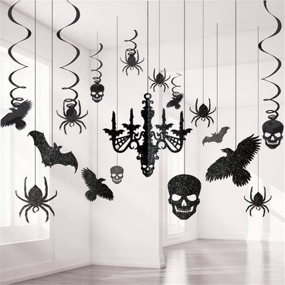 Scary Halloween decoration supplies - Hanging decorations | CatchMyParty.com