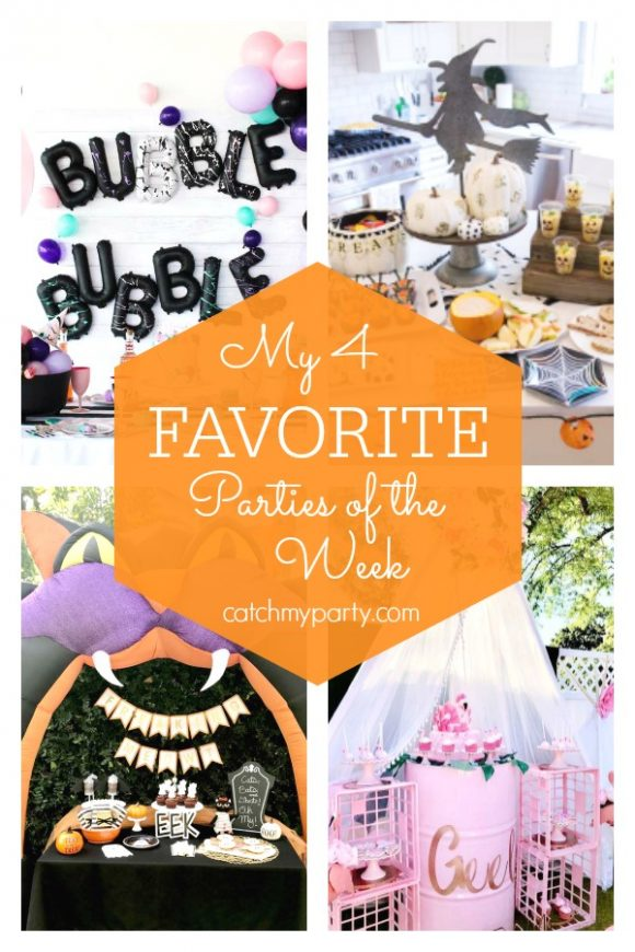 Our favorite parties this week include some fantastic Halloween parties, such as Halloween girls night, a boos and ghouls Halloween party, a vintage Halloween party for kids , and a flamingo birthday party | CatchMyParty.com