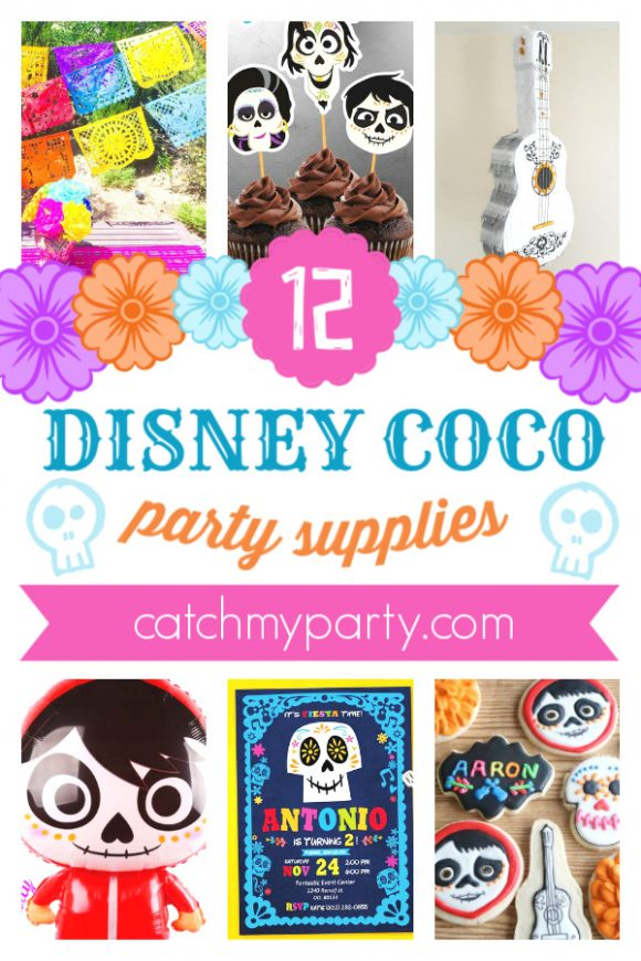 Take a Look at the Best 12 Disney Pixar Coco Party Supplies | CatchMyParty.com